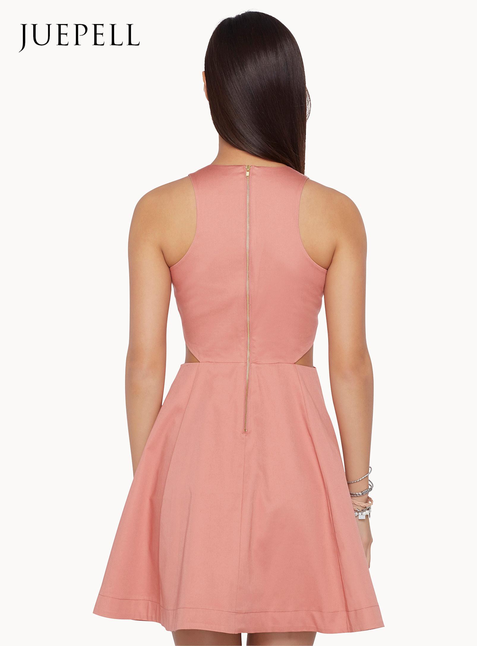 Bare Skin Cutout Waist Dress