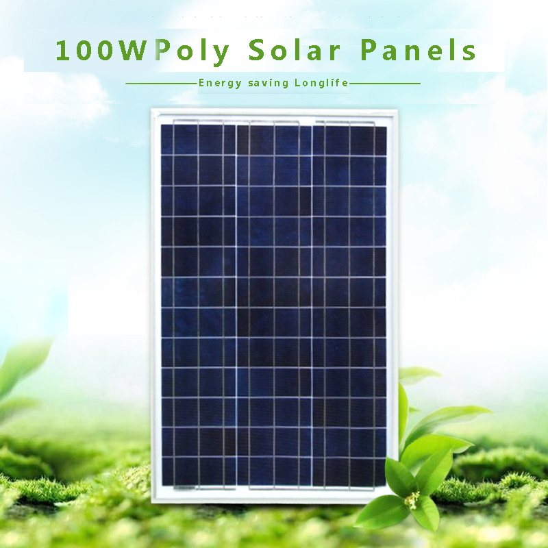 100W High Efficiency Poly Renewable Energy Saving Flexible Solar Panel System for Home