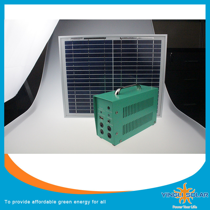 60 W Home Solar Electricity Generation System with 5PCS Super Bright 5W LED Lamp and with 5m Cable