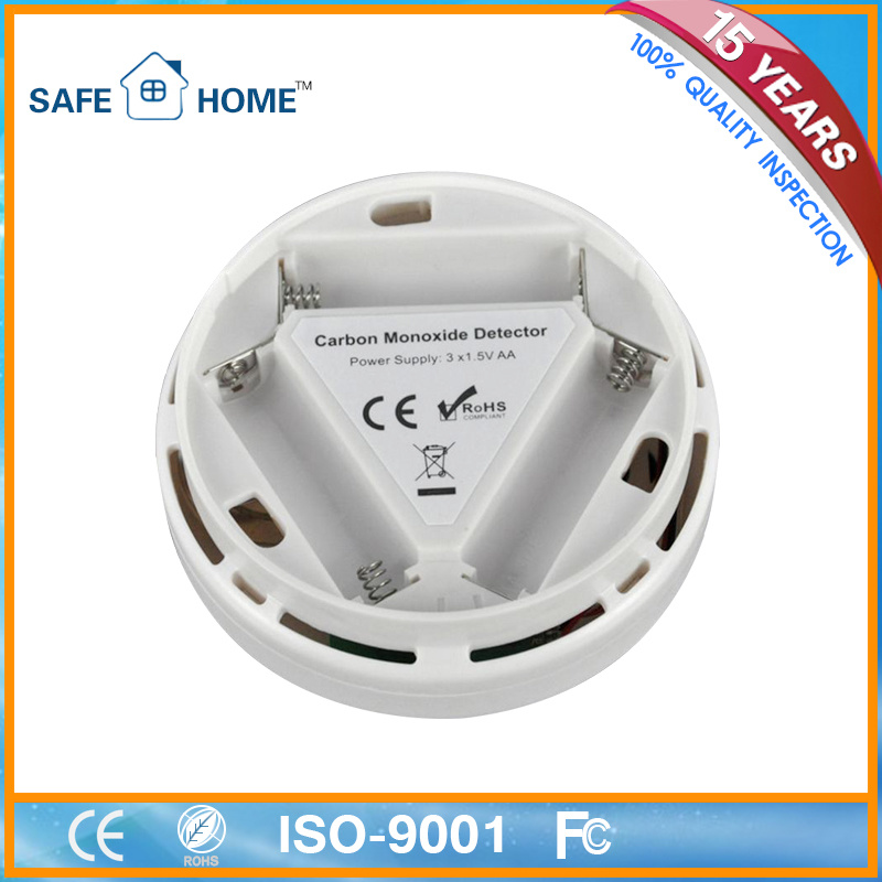 Smart Home Security Carbon Monoxide Detector LCD Battery Backup