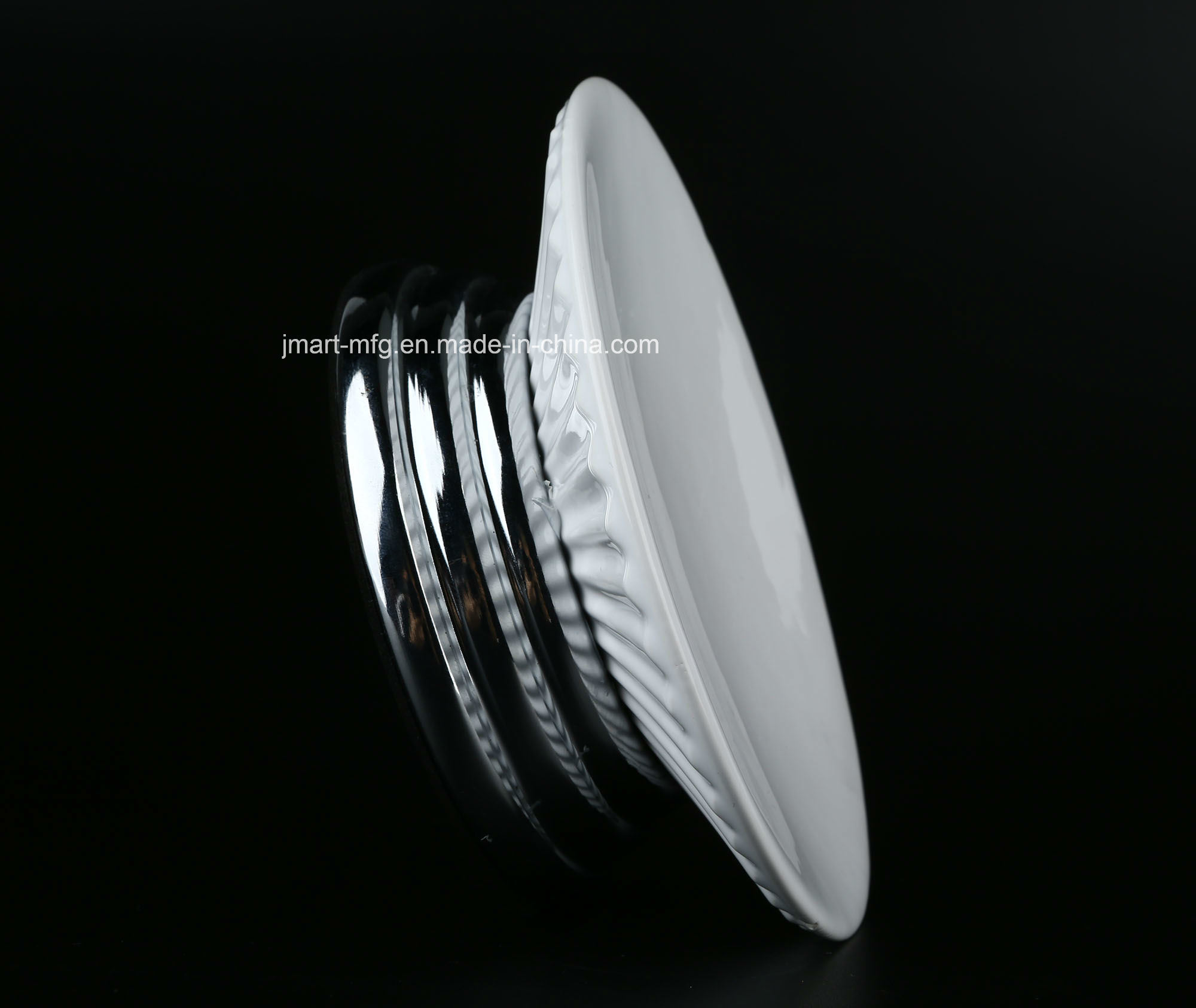 Ribbed 3D Metal Ceramic Bathroom Accessory