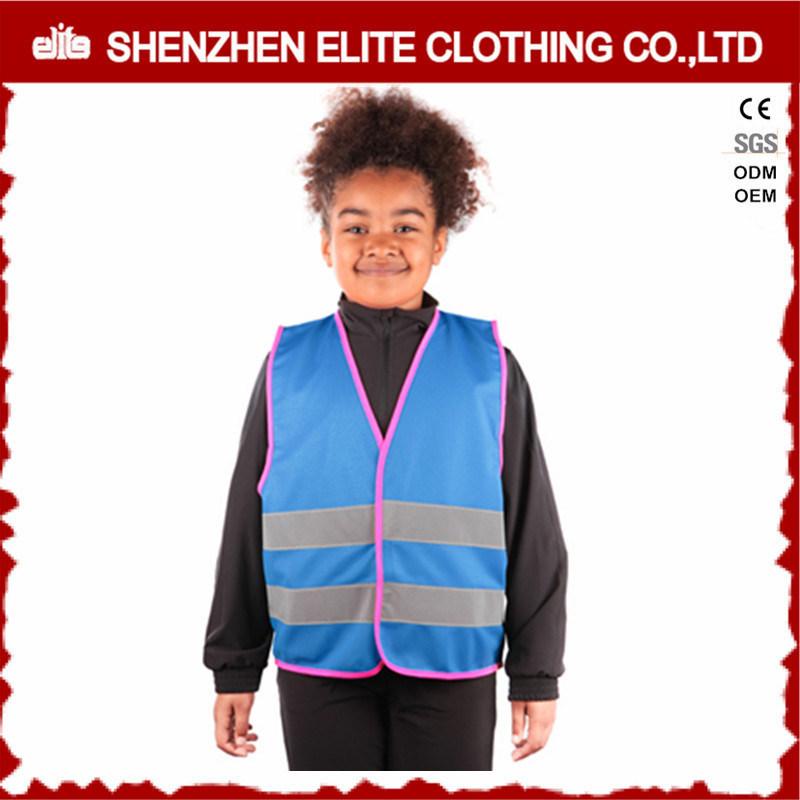 Roadway Warning Orange Kids Reflective Safety Vest Waterproof