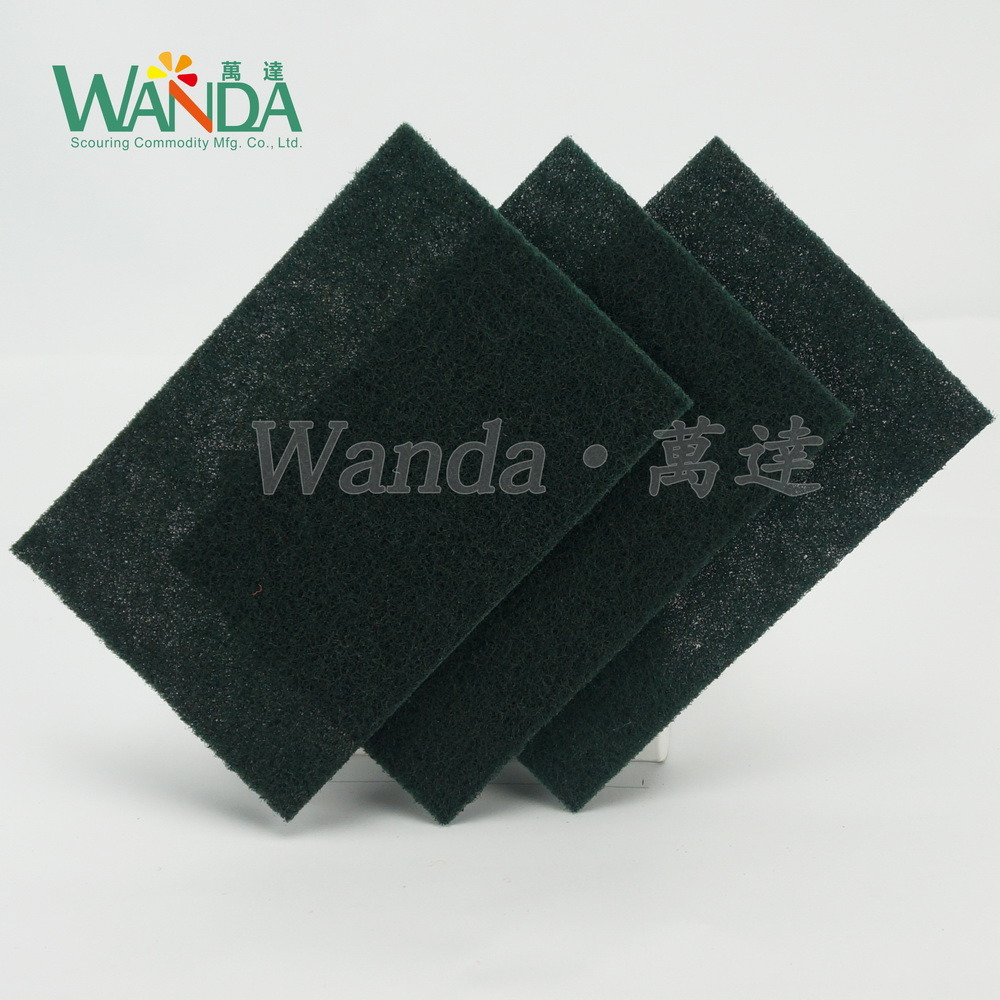 Dark Green Non-Abrasive Kitchen Cleaning Scouring Hand Pad