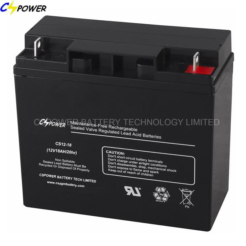 12V / 18ah Sealed Lead Acid Battery for Emergency Lighting/UPS