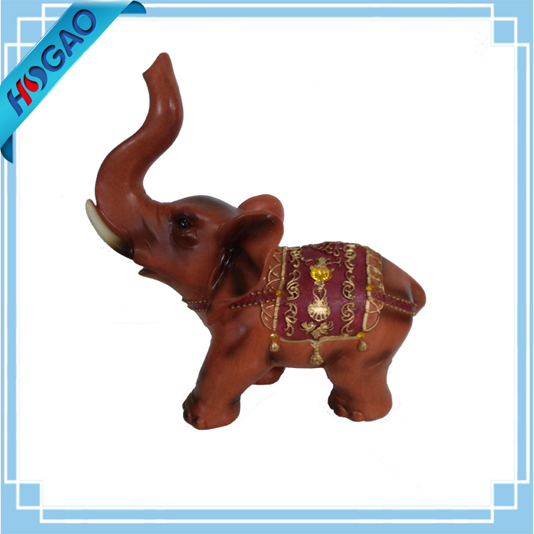 Thai Statue Elephant Figurine Collectible Handmade Animal Home Resin Decor Trunk