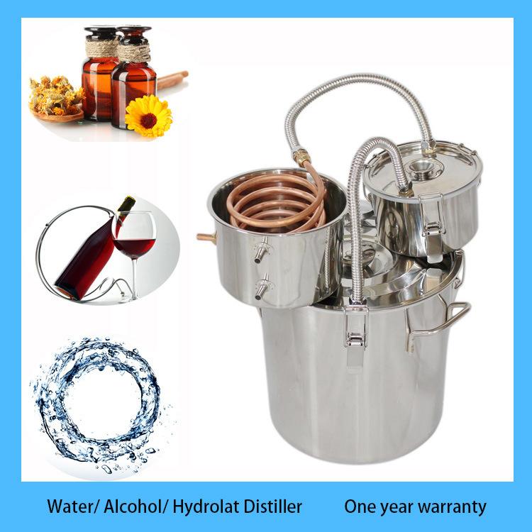 Kingsunshine 18L/5gal Home Alcohol Oils Distiller Moonshine Still Stainless Steel Boiler Brew Kit with Thump Keg