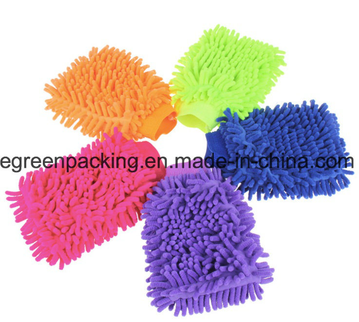 Microfiber Chenille Mitt for Car Cleaning