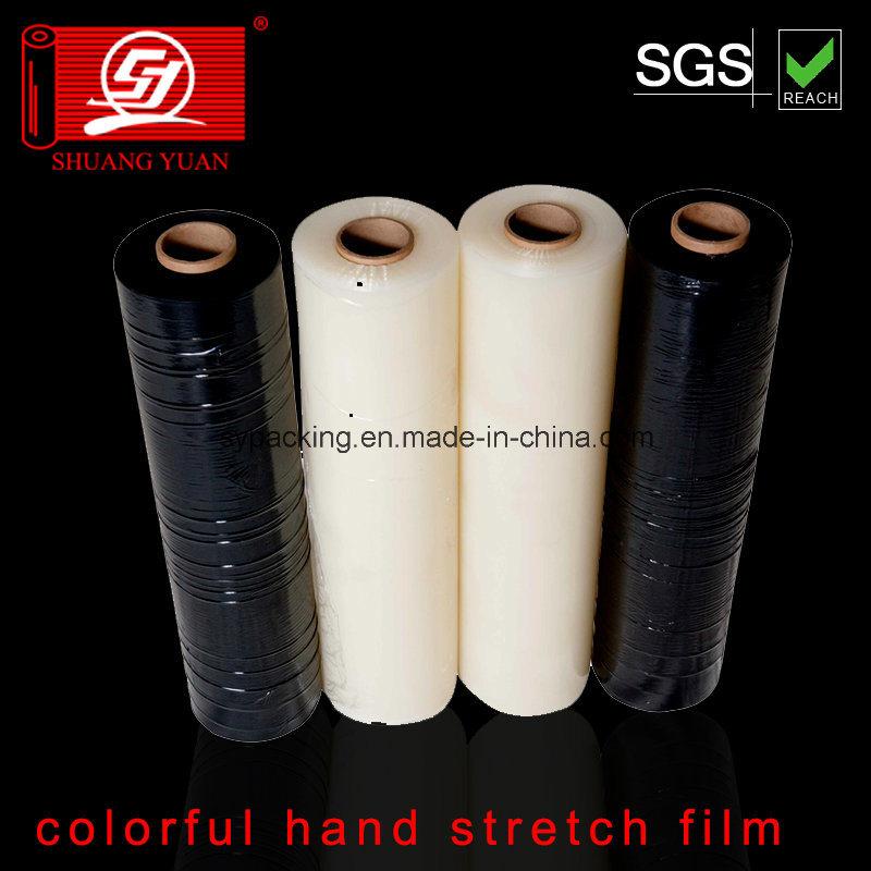 Dustproof Waterproof 70-80gauge Corloful LLDPE Stretch Film Clear Film Packing Film