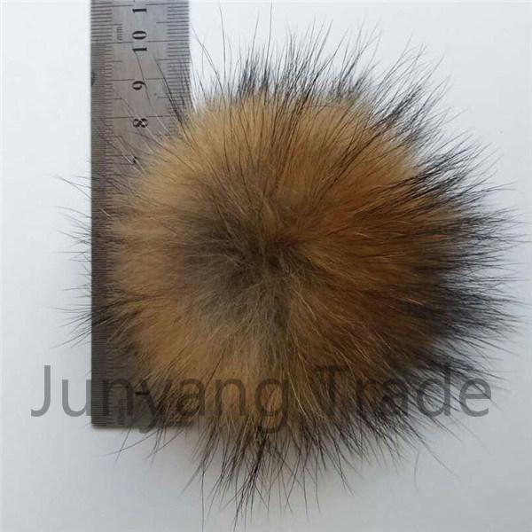 Hot Sale Fur POM Keychain Real Raccoon Fur POM POM