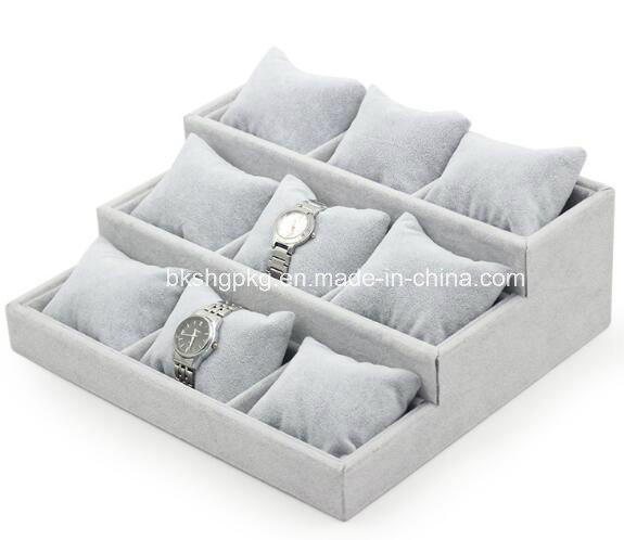 Ice Velvet Watch Display, Watch Tray