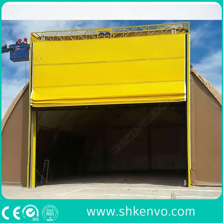 PVC Fabric Lifting Folding up Aircraft Hangar Door