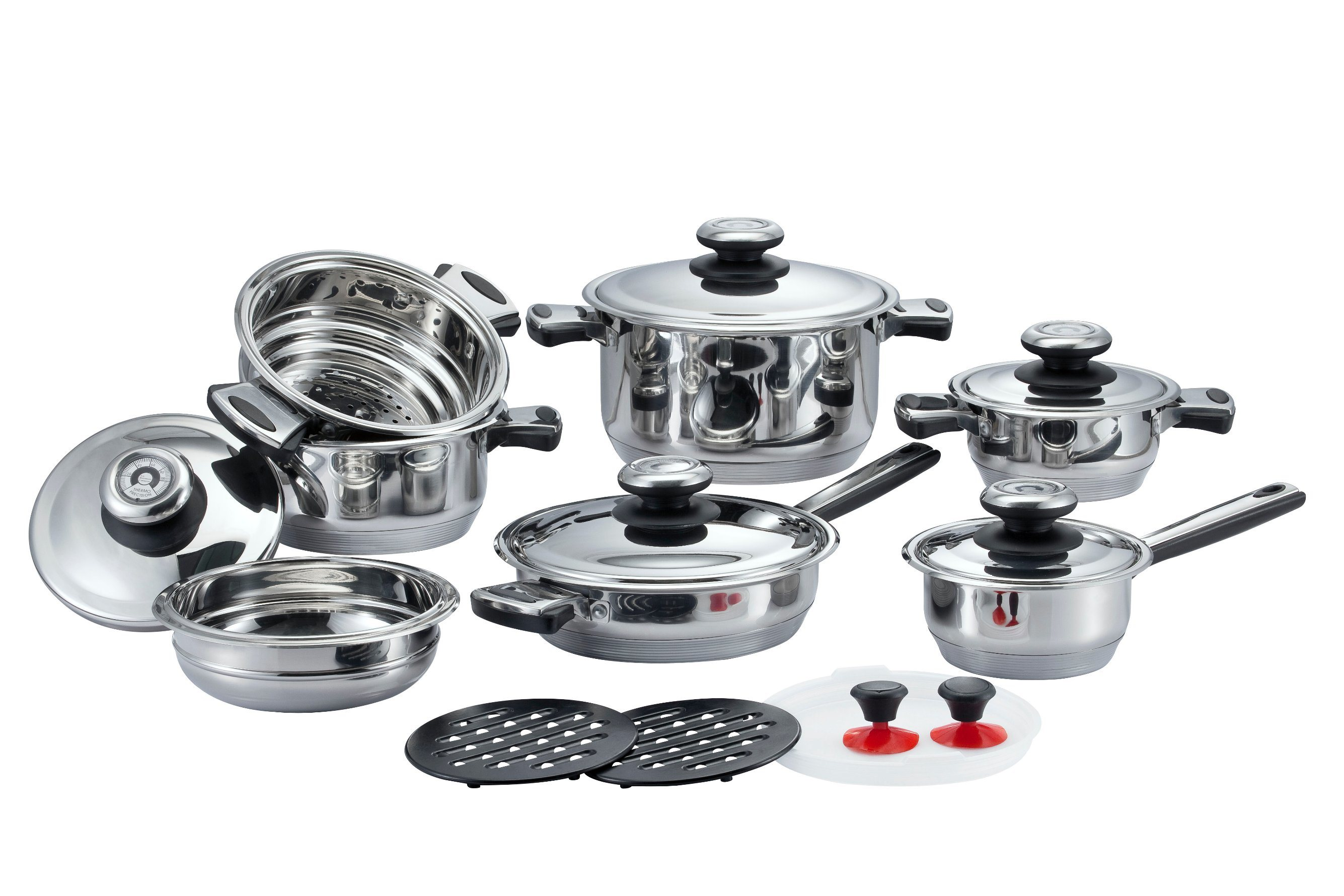 16 PCS Broad-Brimmed Cookware Set
