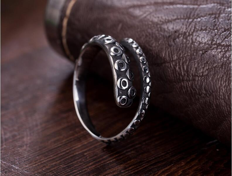 Stainless Steel Male Ring Fashion Modelling Silver Color Half Circle