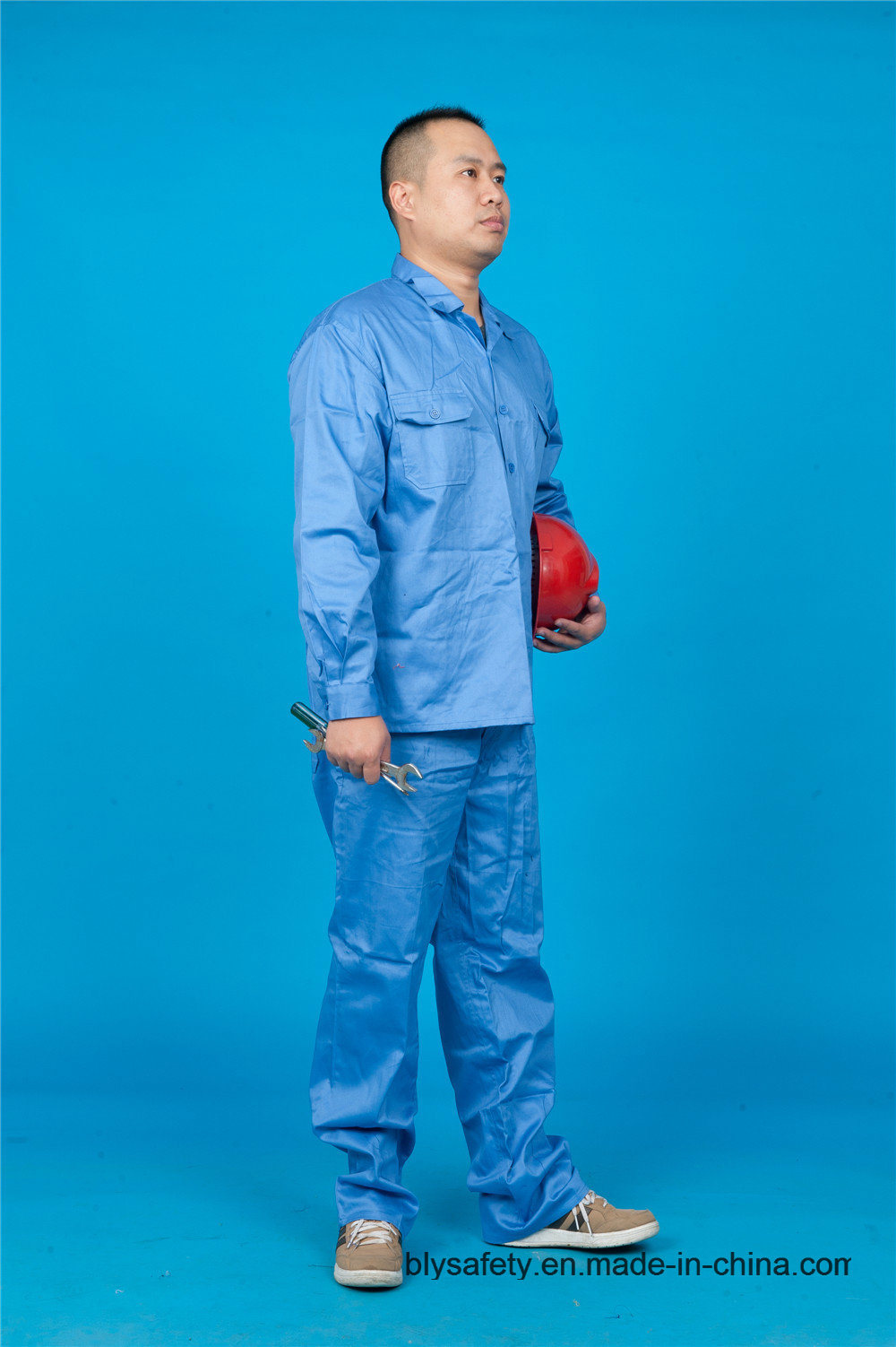 65% Polyester 35%Cotton Long Sleeve High Quolity Cheap Safety Uniform (BLY2004)