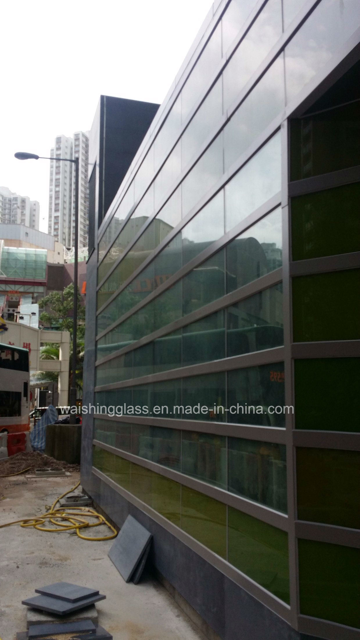 6mm Tempered/Toughened Laminated Glass for Curtain Wall with Ceramic Fritted