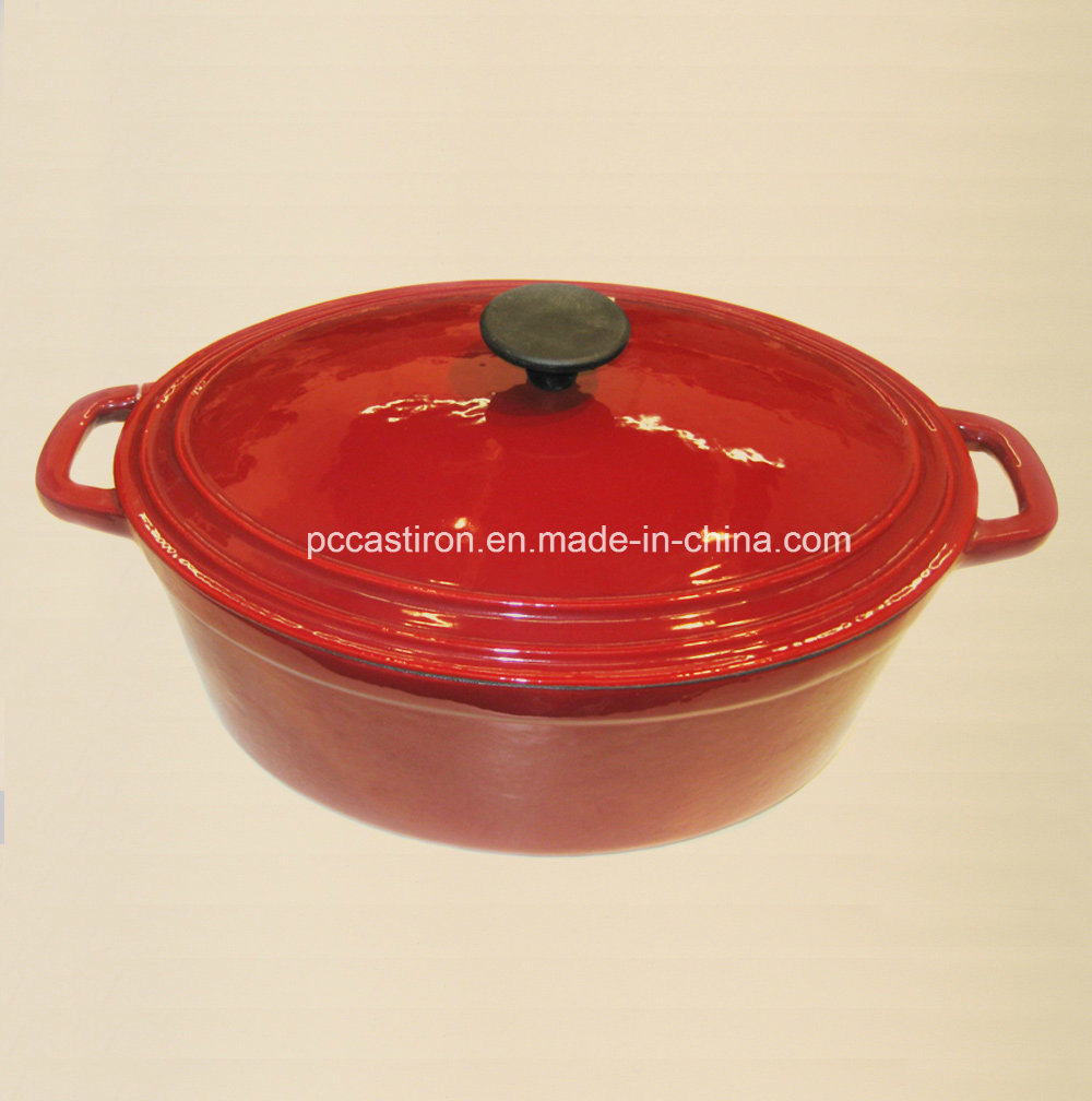 Oval Enamel Cast Iron Casserole Manufacturer From China Size 30X25cm