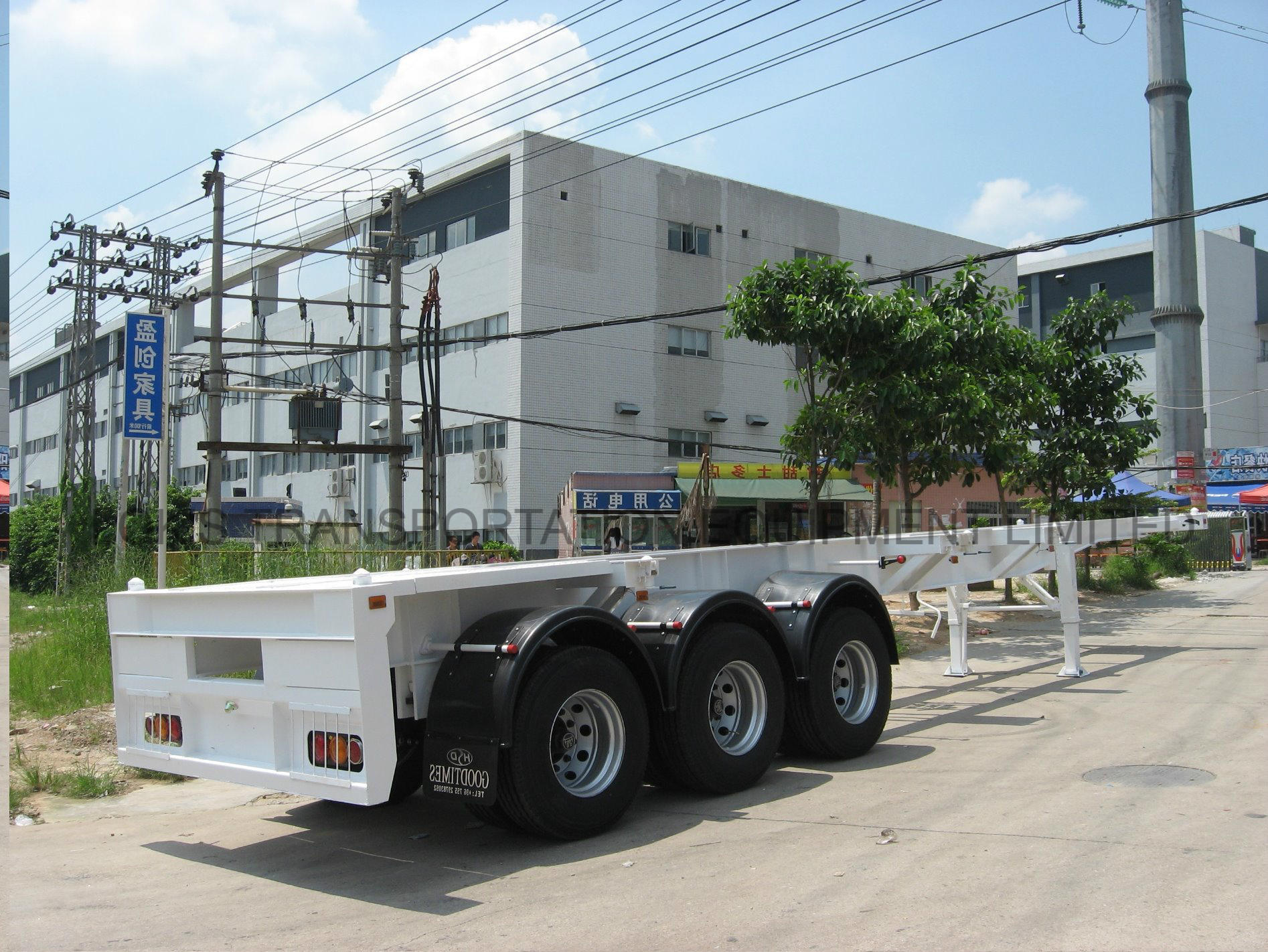 40 Feet 3axles Container Chassis Semi - Trailer