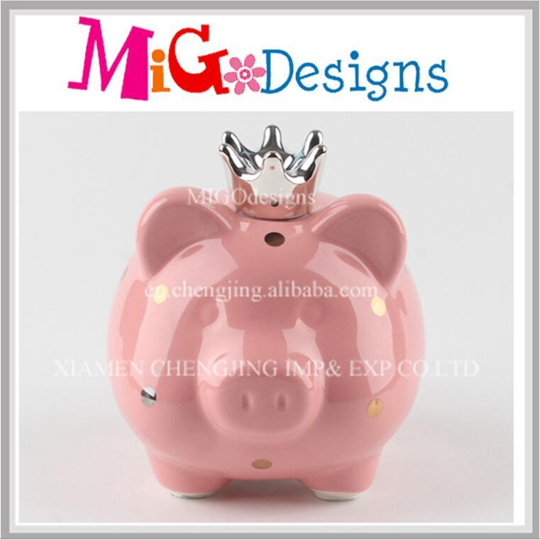 Wholesale Cute Pink Pig Ceramic Piggy Bank Home Decor