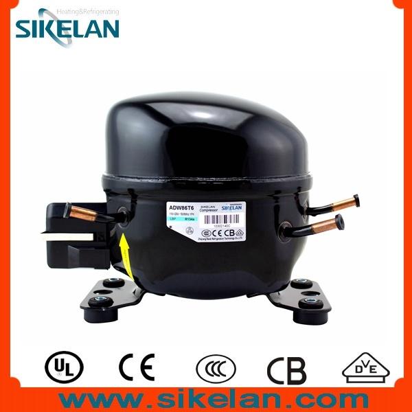 Sikelan Refrigeration Freezer Fridge Refrigerator Parts Hermetic AC R134A Compressor Adw86t6 115V Lbp