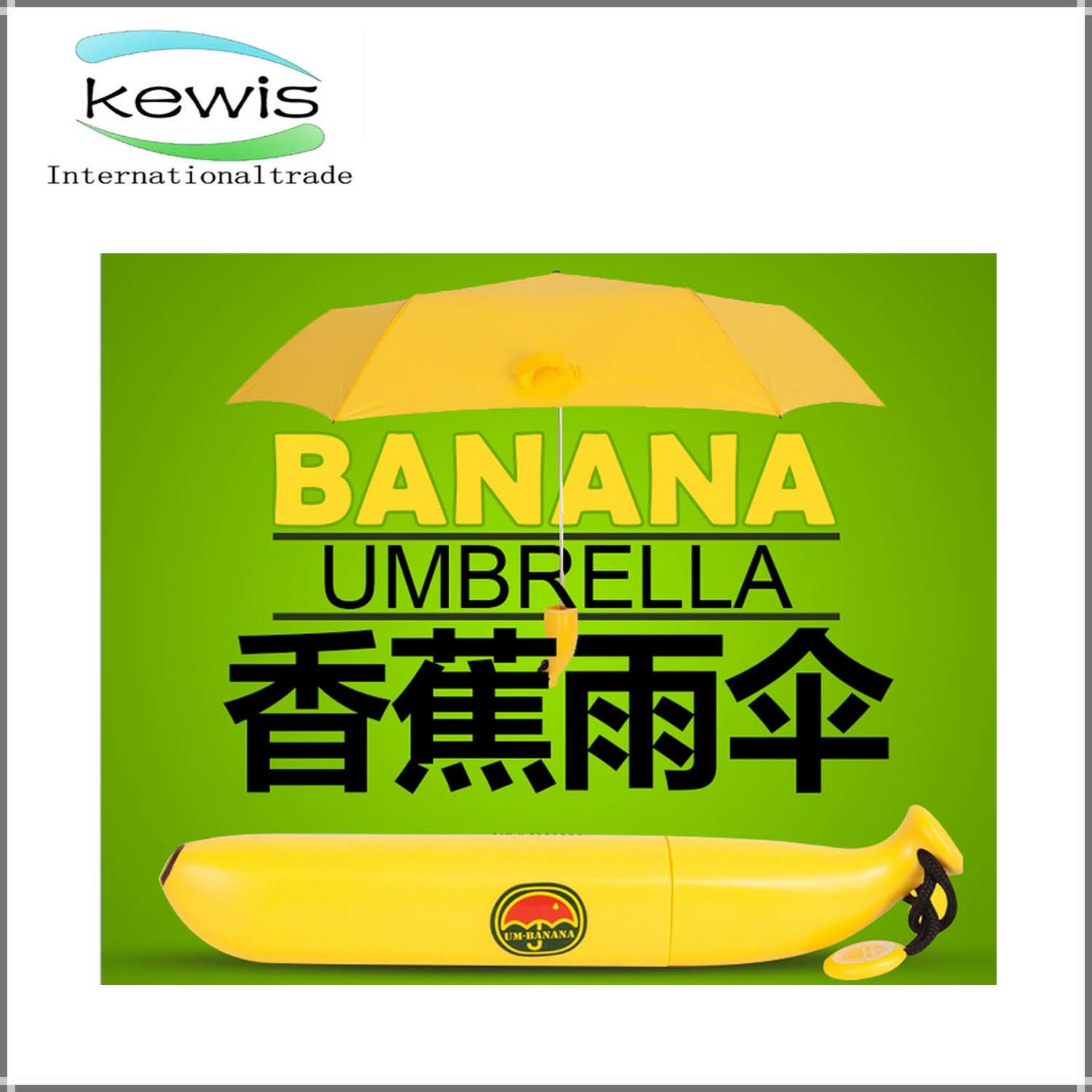 New Design Style Fashion Banana Shape Golf Umbrella
