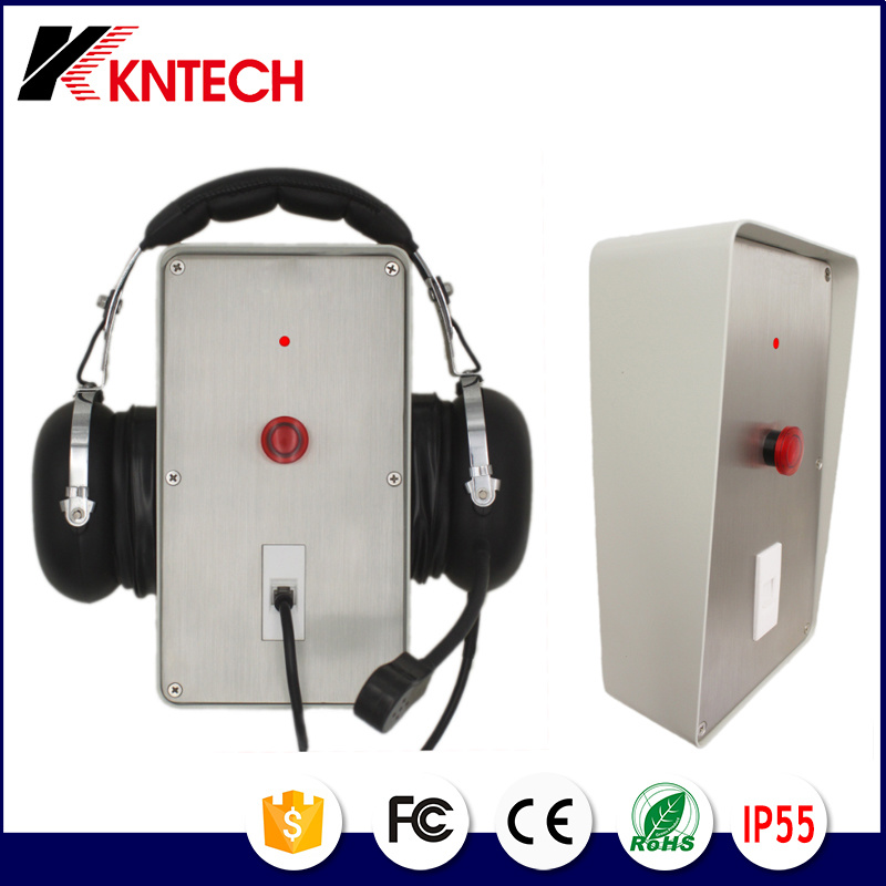 Waterproof Anti-Noise Industrial Telephone Knzd-56 with Headset Phone