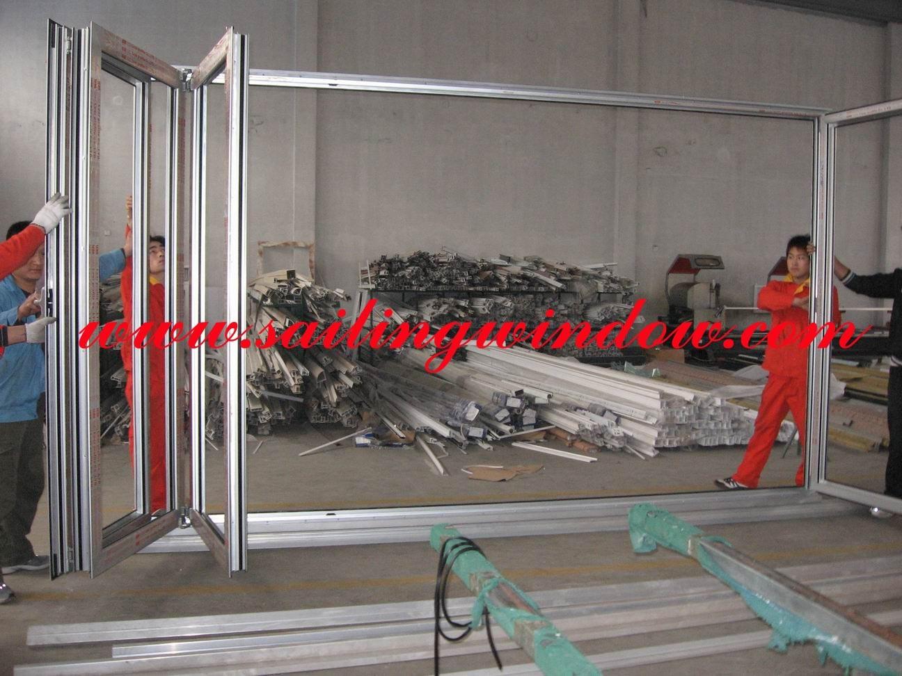 Aluminum Door - Folding out Door