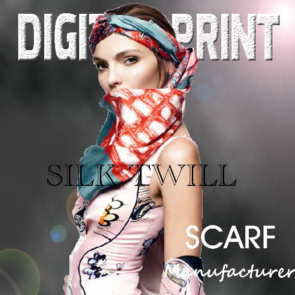 Shiny, Thin, Vibrant, Rich Colors Printed Scarf Fabric (X109)