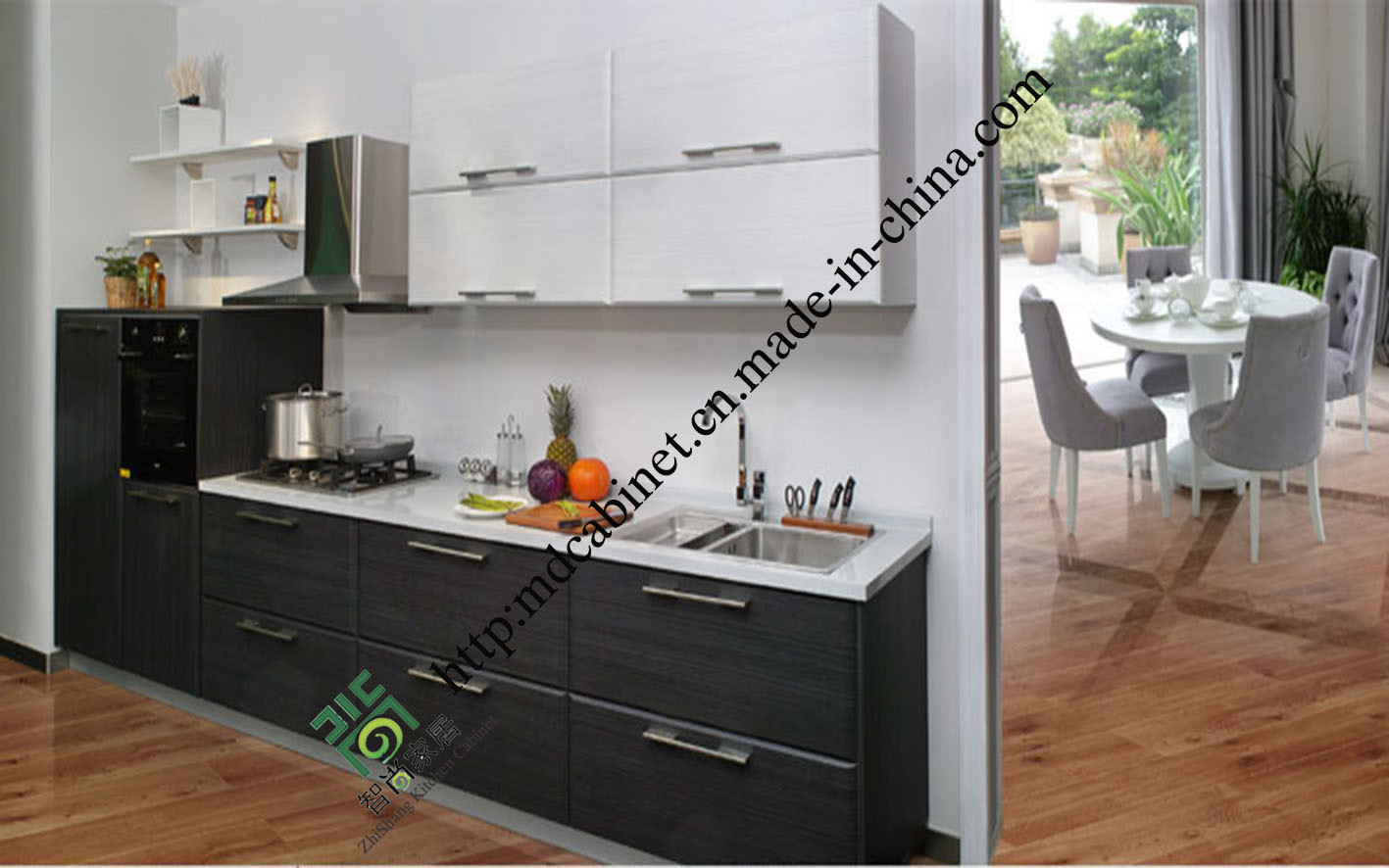 china melamine chipboard kitchen cabinet zs 391 photos pictures made in. Black Bedroom Furniture Sets. Home Design Ideas