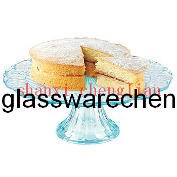 Colorful Glass Cake Plate with Stands (BI-GSC10)