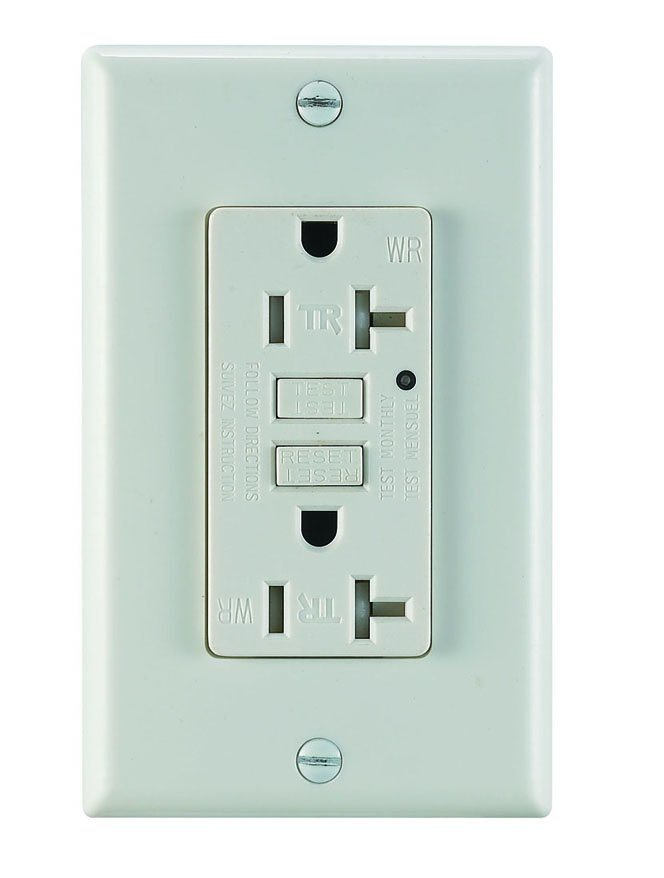 UL Standard Newest Edition Trwr GFCI with Wallplate 20A125V