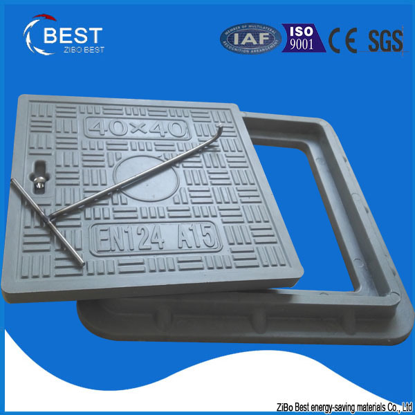 China Manufacturer SMC Resin Composite Square Manhole Cover