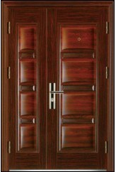 Competitive Exterior Luxury Steel Security Door (WX-LS-298)
