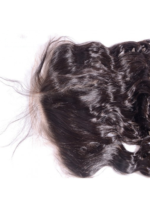 Virgin Human Hair 13X6 Loose Wave Lace Frontal with Natural Hairline