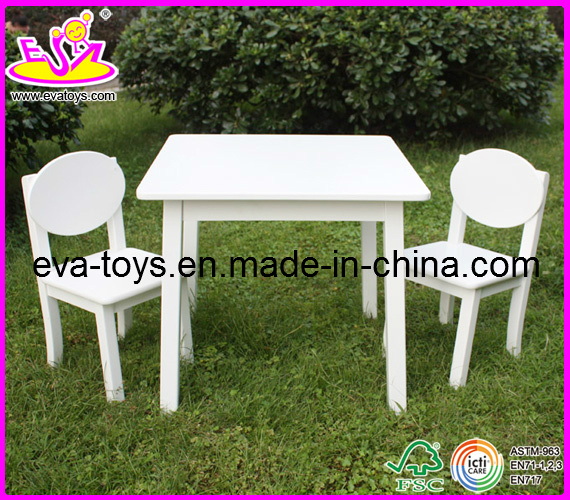 Hot New Product for 2015 Wooden Table and Chair, Cheap Children Table and Chair Set Toys, Hot Sale Wooden Toy Table Chair W08g037