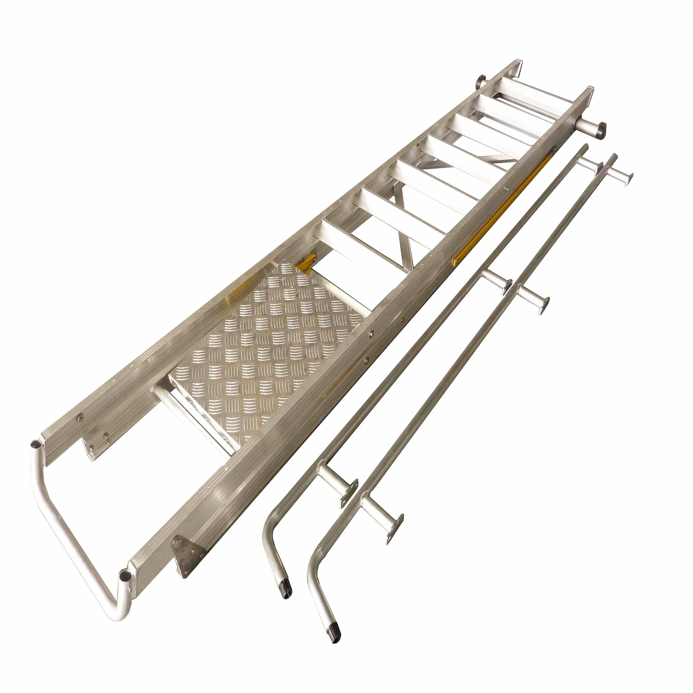 (375LBS) Aluminum Alloy Folding Platform and Step Ladder with Casters