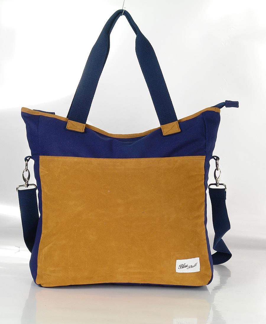 Fashion Canvas Lady′s Handbags in Contrast Color Design