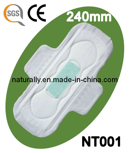Anion Sanitary Napkin 240mm with Breathable Backsheet (NT001)