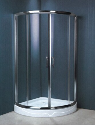 Tempered Glass Stainless Steel Frame Safe Shower Enclosure (H004)