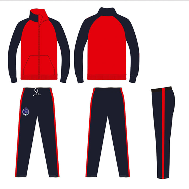 2 Colors Cheap Tracksuit Sportswear with Embroidery Badge