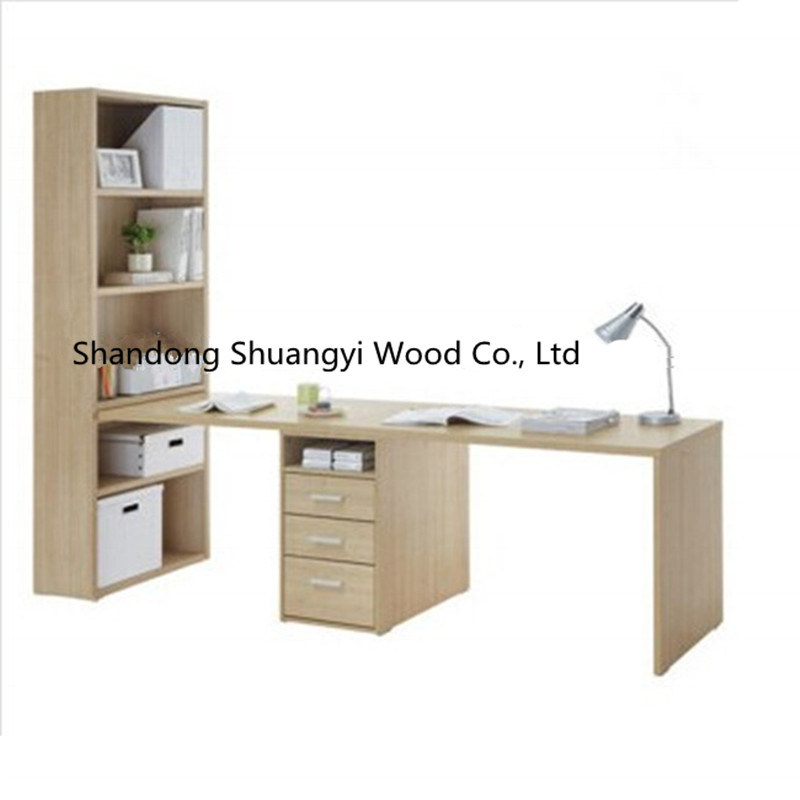 Hot Sale Modern Wooden Bookshelf Combined Study Desk