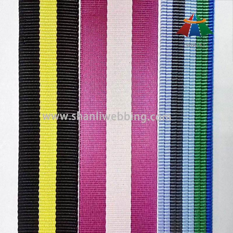 High Tenacity Striped Color Nylon Webbing