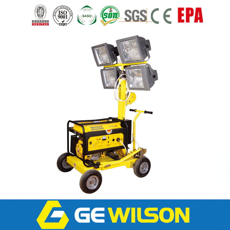 Mobile Light Tower with 5kw Diesel Generator