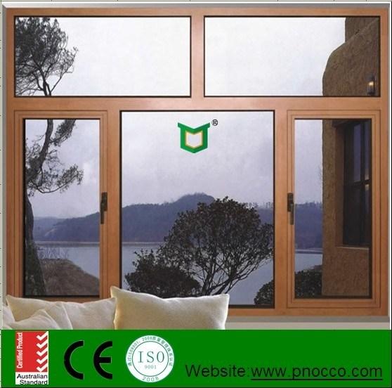 Wooden Grain Aluminium Casement Window
