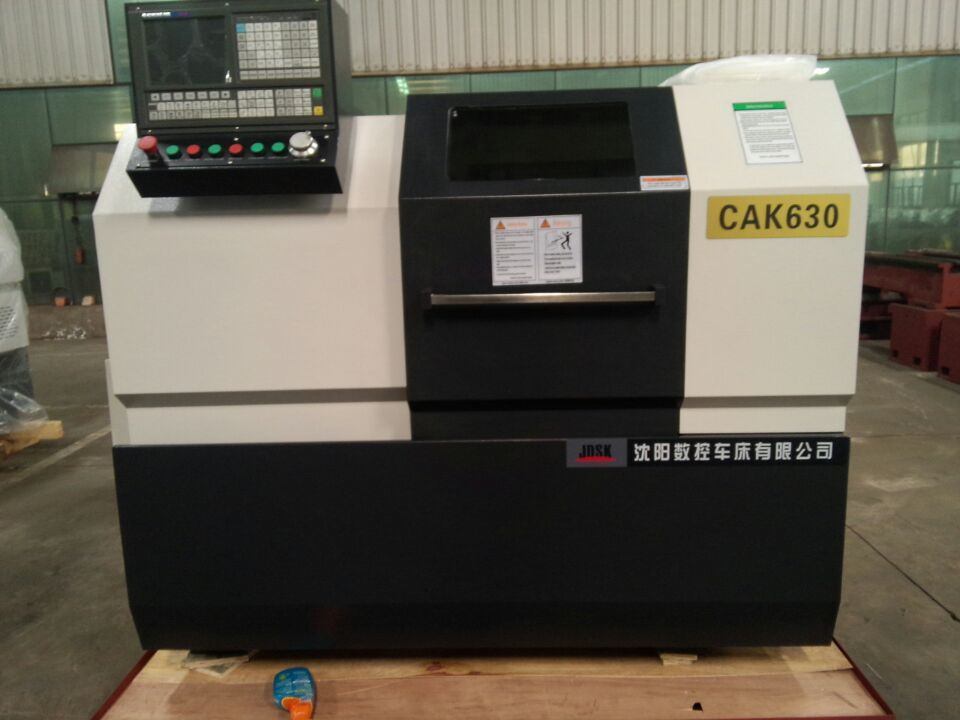 Cak630 Flat Bed 2 Axis CNC Mini Lathe Machine with C Axis