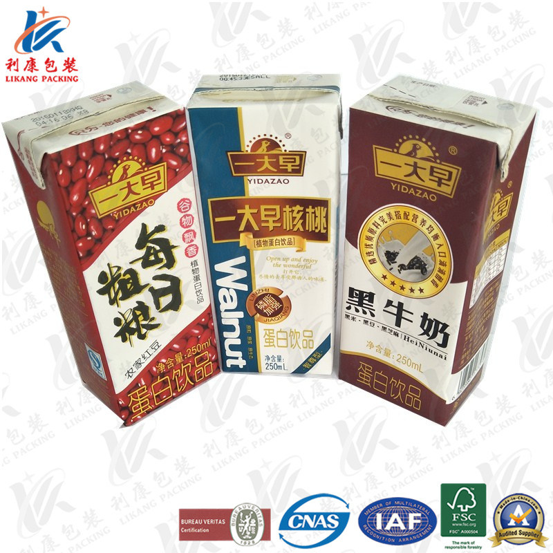 Aseptic Brick Pack for Milk and Juice