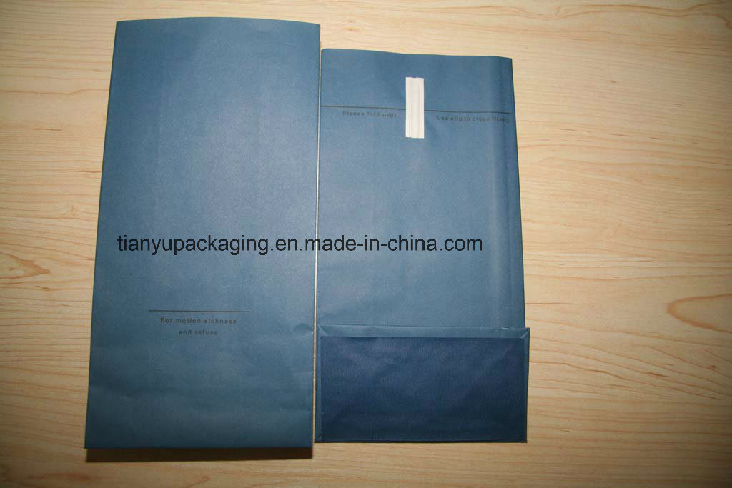Square Bottom Paper Bag for Airline Sickness