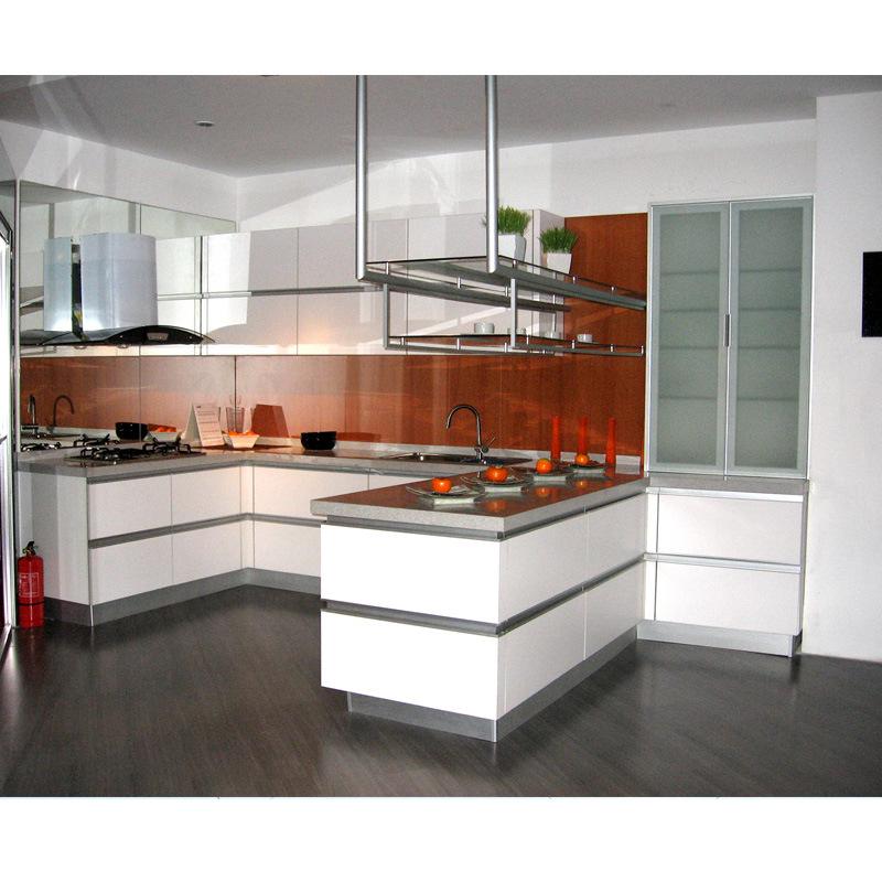 China White Modern Melamine Kitchen Cabinet Photos