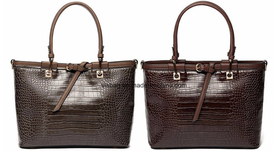 Classical Crocodile Grain PU Women Handbag Fashion Hand Bag