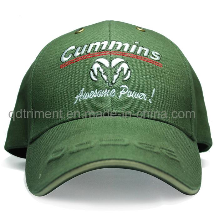 Metallic Embroidery Cotton Twill Sport Golf Baseball Cap (TRB016)