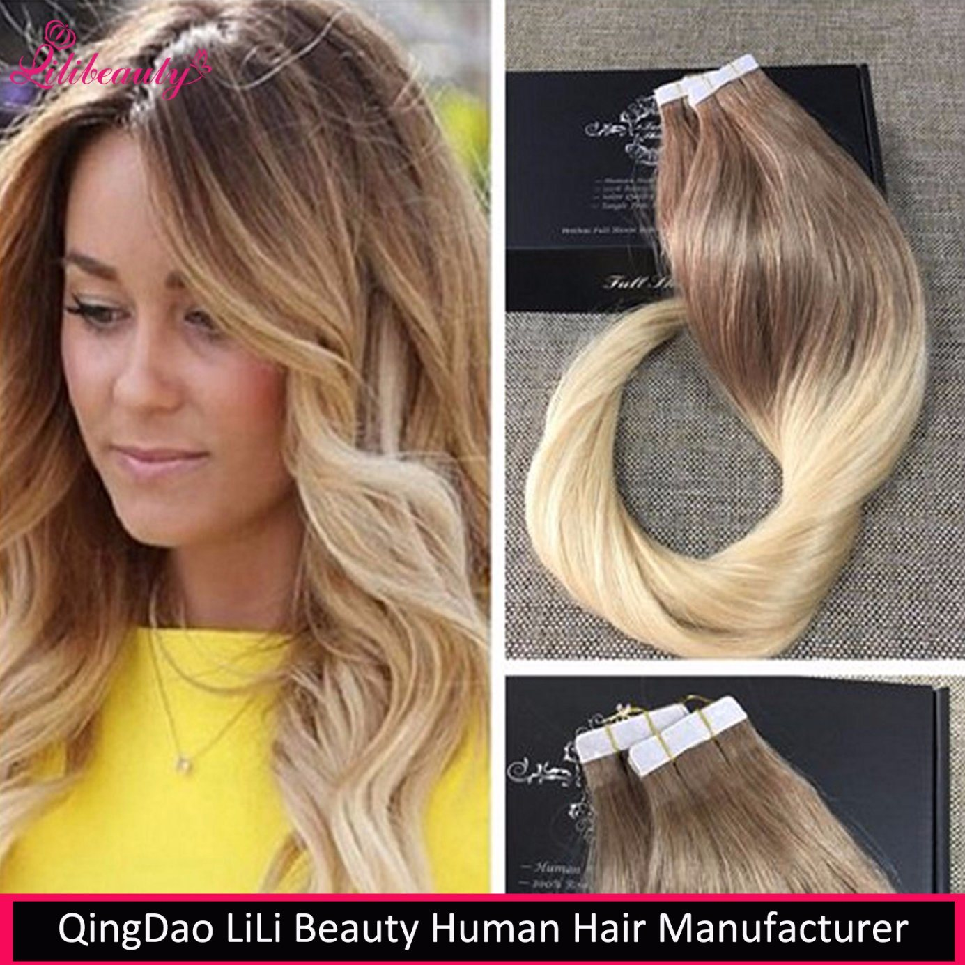 2017 New Arrival Tape in Human Hair Straight Remy Human Hair Extension